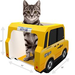 HOLIDAY DEAL – CAT HOUSE, CONDO & CATS CAVE – Top Rated Cardboard Tower for Scratching ...