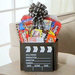 Family Flix Movie Night Gift Box with Red Box Gift Card by Gift Basket Dropshipping