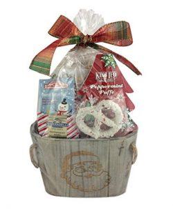Holiday Christmas Gift Basket Premium Assorted Snacks Chocolate Cookies Pretzels