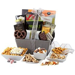 Broadway Basketeers Sweet and Savory Gift Basket, 4 Pound