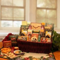 Corporate Gift Baskets Associates Classic Selection Deluxe Meats & Cheese by GiftBasketsAsso ...