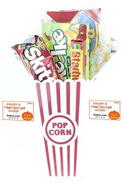 Spooktacular Movie Night Gift Basket ~ With Popcorn, Candy and 2 Free Redbox Movie Rentals (Mike ...