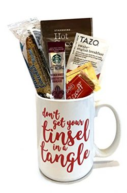 Christmas Gifts- Holiday Coffee Gift Sets- Kids Hot Chocolate Mug Kit- Yuletide Coffee Mugs- Cof ...