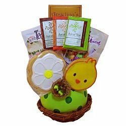 Spring Favorites Bird Nest Cookies and Tea Gift Basket