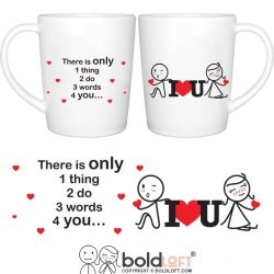 BOLDLOFT 3 Words for You Couple Coffee Mugs|Couple Gifts for Him and Her|Boyfriend Gifts for Chr ...