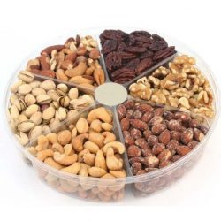 California Natural Nuts Freshly Roasted Nut Gift Tray 2 Lbs Delicious Salted Almonds, Buttery Ca ...