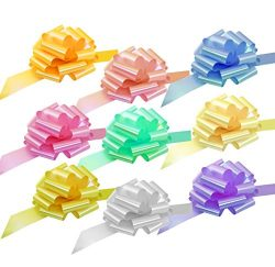 Big Easter Gift Basket Pull Bows – 9″ Wide, Set of 9, Light Pink, Blue, Yellow, Lave ...