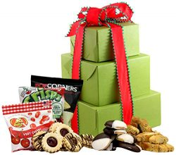 LARGE – Gluten Free Palace Holiday Delight Gluten Free Gift Tower, Gourmet Gift Baskets, G ...