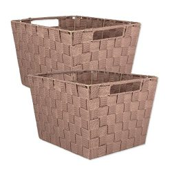 DII Durable Trapezoid Woven Nylon Storage Bin or Basket for Organizing Your Home, Office, or Clo ...