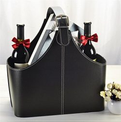 GFYWZ PU leather gift baskets Christmas Gift Fruit Red wine Packing Storage Box , 4