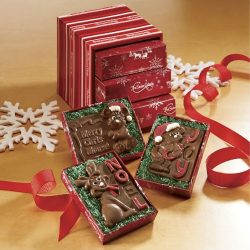 Trio of Chocolate Christmas Cards from The Swiss Colony