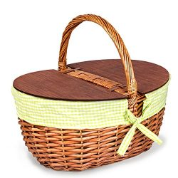 Wicker Picnic Basket – Thoughtful & Romantic Unique Christmas Gift for Outdoor Enthusiasts