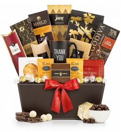 GiftTree Deluxe Thank You Gift – Thank You Mug with Gourmet Coffee, Chocolate, Candies, an ...