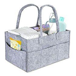 DollyBoba Baby Diaper Caddy | Nursery Diaper Tote Bag | Large Portable Car Travel Organizer | Bo ...