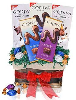 Christmas Godiva Chocolate Variety Gift Basket – Godiva Chocolate Masterpieces, Assorted T ...