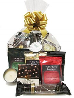 Global Flavors Gourmet Coffee Gift Basket for Men and Women Featuring Small Batch Selections wit ...