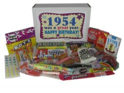 64th Birthday Gift Box of Retro Candy from Childhood for a 64 Year Old Man or Woman Born in 1954 ...