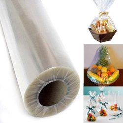 Adorox 30″ Inch 100′ Ft Clear Cellophane Wrap Roll Gift Basket Arts and Crafts