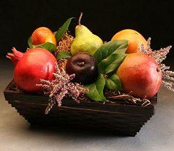 Pippin Fruit Basket: 6 Luscious Seasonal Fruits Beautifully Arranged in a Keepsake Bamboo Basket ...