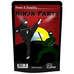 Ninja Farts Cotton Candy – Cotton Candy Gag Gifts Funny Easter Basket Stocking Stuffers for Boys ...