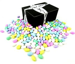 Classic Assorted Jordan Almonds by Cuckoo Luckoo Confections, 4 lb Bag in a BlackTie Box