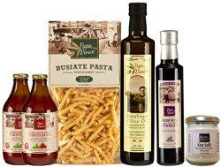 Gourmet Food Gift Set Mediterranean – farm fresh from artisans in Sicily, Italy. Extra Vir ...
