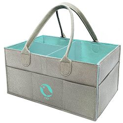Baby Diaper Caddy Organizer – Nursery Storage Bin for Diapers, Baby Wipes, Kid Toys | Larg ...