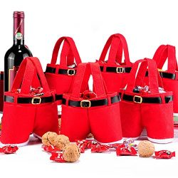 Santa Pants Gift and Christmas Candy Treat Bags Baskets Gift Wrap for Wedding Holiday New Year H ...