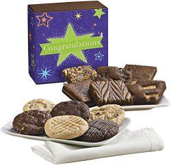 Fairytale Brownies Congratulations Cookie & Brownie Combo Gourmet Food Gift Basket Chocolate ...