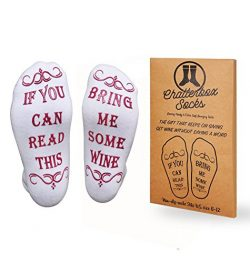 """Luxury Premium Brushed Cotton """"Bring Me Some Wine"""" Socks – Perfect Host / Host ..."""
