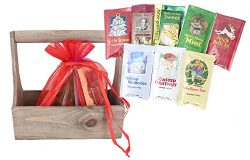 WellPackBox 7 Holiday Blend Coffee Gift Basket Sampler With Mocha Magic Chocolate Expresso Beans ...