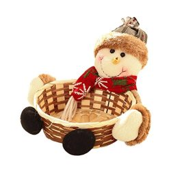 Gallity15CMX 15CM Christmas Candy Storage Basket Decoration Santa Claus Storage Basket Gift (A)