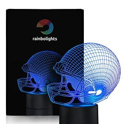FOOTBALL HELMET NIGHT LIGHT 7 Color LED Does Not Get Hot A Great Gift Idea for Him Boys Kids or  ...