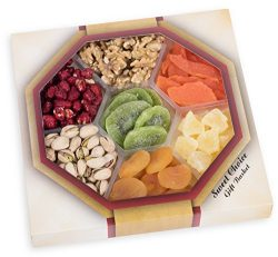 Holiday Assorted Nuts Dried Fruit Tray (7-Flavors) Christmas, New Year's and Thanksgiving Gourme ...