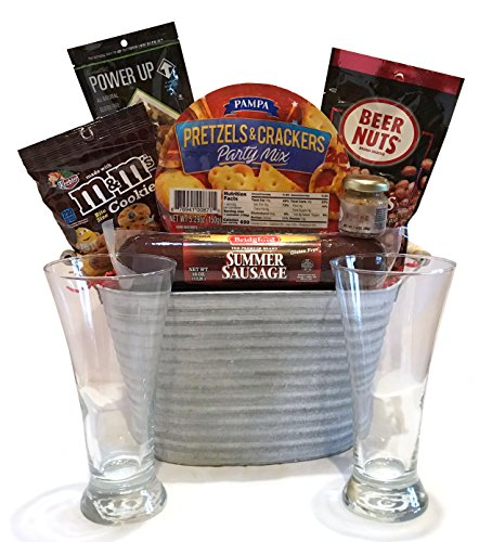 Gift Baskets Manly Mans Meat and Snack Attack Gift Baskets – Lots To Choose From (Ice Buck ...