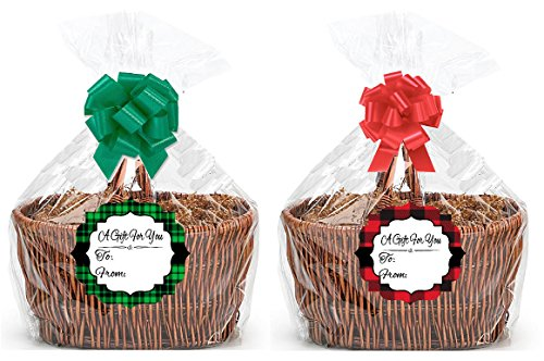 Bundleofbeauty Brand Extra Large Super Jumbo Clear Cello/cellophane Bags Gift Basket Packaging B .