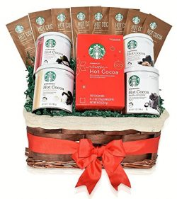 Starbucks Christmas Hot Cocoa Mixed Gift Basket – 5 Different Flavors – Double Choco ...