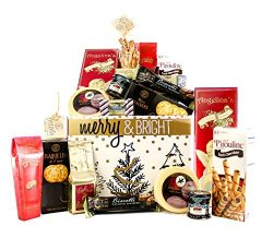 Merry Christmas Merry & Bright Holiday Gift Basket Happy Holidays