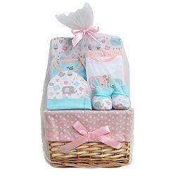 Chick Pea Newborn Baby Girl 7PC Bundle of Joy Gift Basket