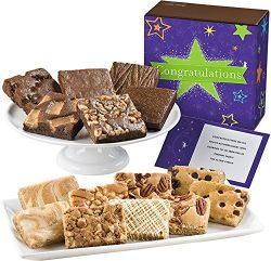 Fairytale Brownies Congratulations Bar & Brownie Combo Gourmet Food Gift Basket Chocolate Bo ...