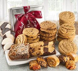 Dulcet Assorted Tin Gift Basket, Best Sellers Includes: Assorted cookies, Macadamia Nut, Peanut  ...