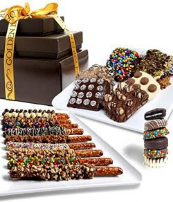 Ultimate Topping Chocolate Covered Snack Tower – Christmas Holiday Gift Basket