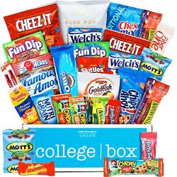 CollegeBox – Classic Snacks Care Package – Chips, Cookies, Candy Assortment Bundle G ...