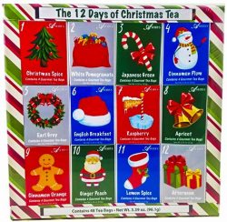 Christmas Sampler Gift 12 Days of Coffees, Teas or Cocoas (Hot Chocolate) for Christmas Gourmet  ...