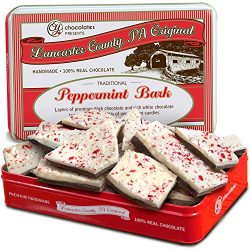 Golden State Fruit Traditional Layered Dark and White Chocolate Peppermint Bark in Christmas Gif ...