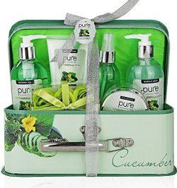 Essence of Luxury Spa Gift Basket Bath Set! PURE Spa Basket Natural Skin Care Gift Set Makes Bes ...