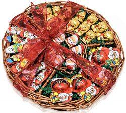 Christmas Chocolate Variety Gift Basket- Santa's and Bears Chocolate Christmas Decorative  ...