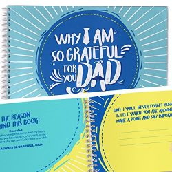 Dad Grateful and Thank You Gifts Book. Fill In With Your Words Friendship Gifts Memory Book. A K ...