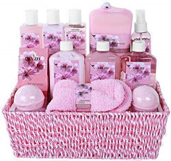 "Premium Deluxe ""Complete Spa at Home Experience"" Gift Basket by Draizee – #1 Best Gift for Chris ..."