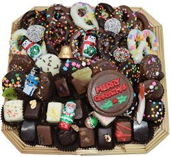 Deluxe Hand-Made Chocolates Christmas Gift Basket (Large)